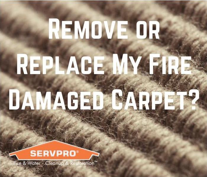 Mold Remediation Removing or Replacing Fire Damaged Carpet in Conway